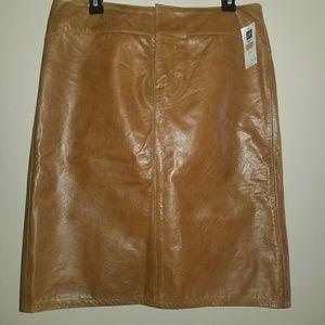 Gap genuine leather skirt